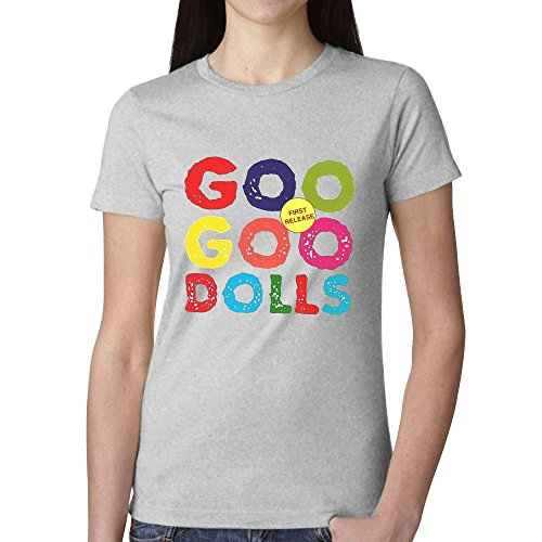 Price comparison product image The Goo Goo Dolls Goo Goo Dolls T Shirts For Women Grey