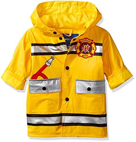 Wippette Baby Boys Matte Fireman Infant Rain Jacket, Gold, 12M (Kids Baby Jacket)