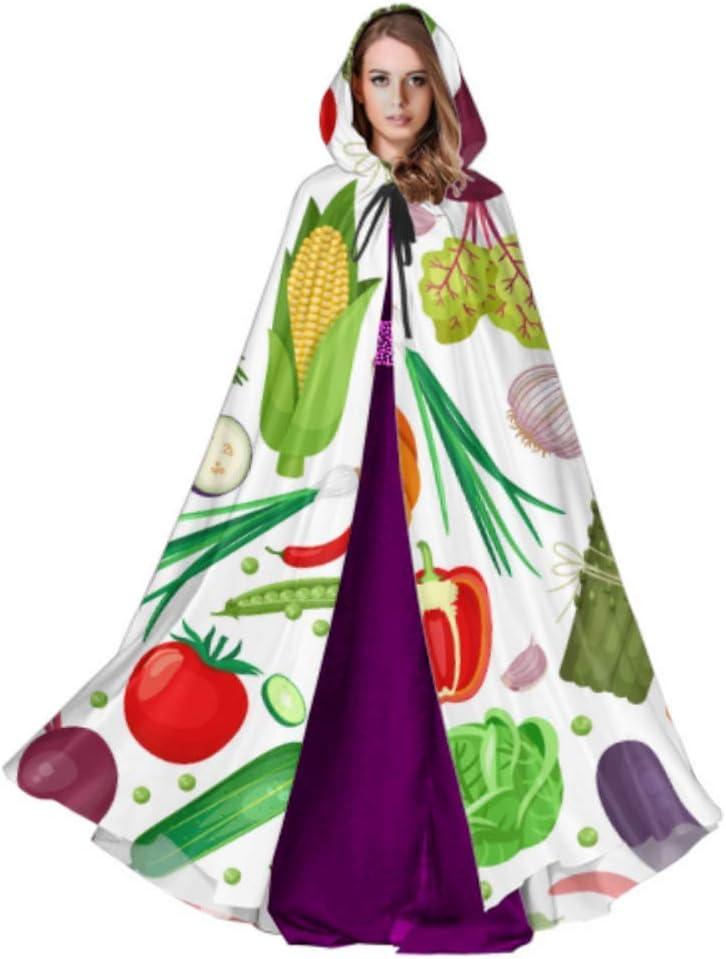 Yushg Jardín Zanahorias Col Otras Verduras Patrón de Capa de Adulto Disfraz Capa con Capucha 59 Pulgadas para Navidad Disfraces de Halloween Cosplay: Amazon.es: Hogar