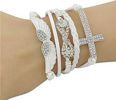 9d64738364c6d Design amis bracelet mode accessoires Bijou Femme Bijoux Bracelet Bijoux  Femme Bracelet Bracelet en cuir White