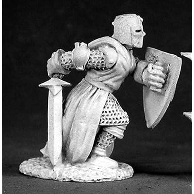 Reaper Miniatures Templar Knight #02513 Dark Heaven Legends Unpainted Metal: Sports & Outdoors
