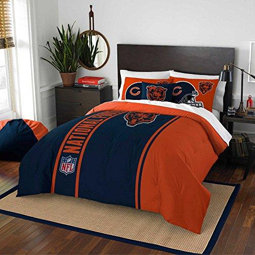 Chicago Bears Embroidered Full Comforter & Shams Set, NFL Boys 3 Piece ()