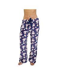 Cherokee Womens Women's Soft Fleece Pajama Pants Sleepwear, Multicolor Pajama Bottom