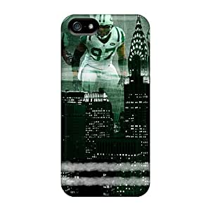 Rugged Skin Case Cover For Iphone 5/5s- Eco-friendly Packaging(new York Jets)