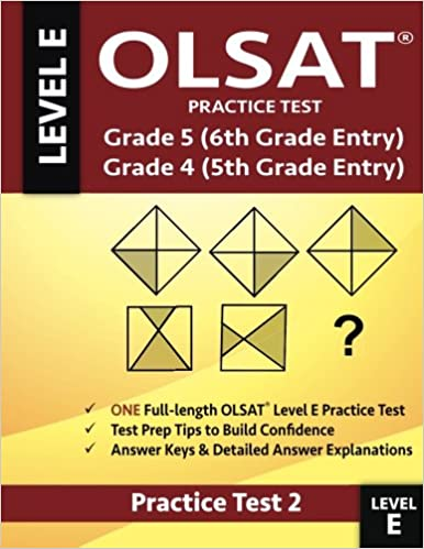 Olsat Practice Test Grade 5 6th Grade Entry Grade 4 5th Grade