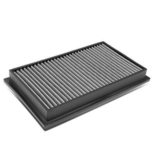 For Scion/Infiniti/Nissan SUV/Sedan/Coupe Reusable & Washable Replacement High Flow Drop-in Air Filter (Silver)