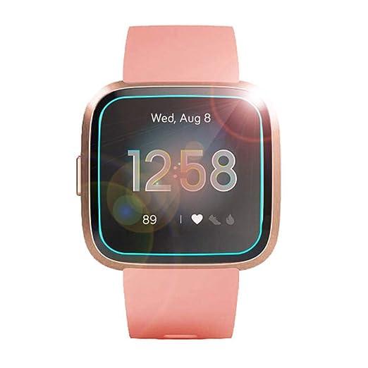 H.eternal Protector de Pantalla de Vidrio Templado para los Relojes Inteligentes Fitbit Versa Lite