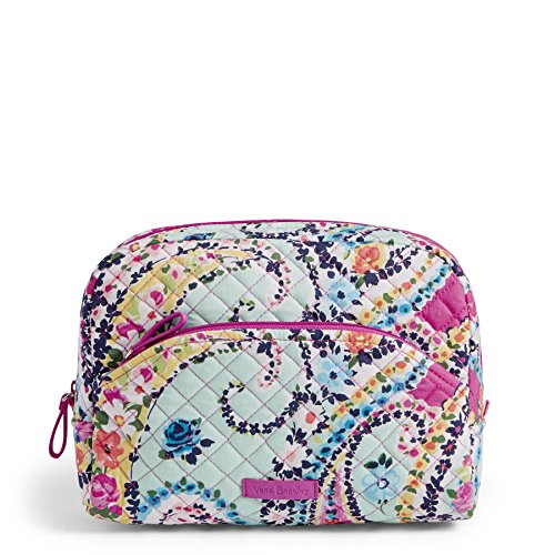 Vera Bradley Iconic Large Cosmetic, Signature Cotton, Wildflower ()