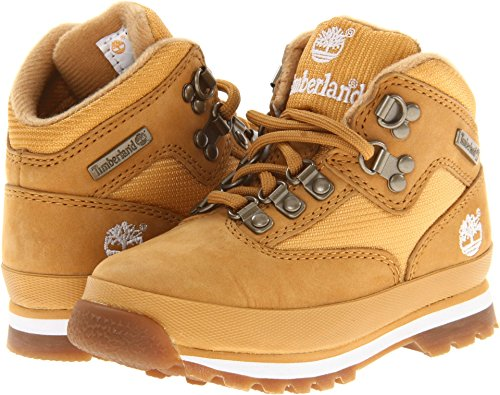 Timberland Euro Hiker Leather and Fabric Boot (Toddler/Little Kid/Big Kid),Wheat,8.5 M US Toddler (Jacket For Women Timberland)