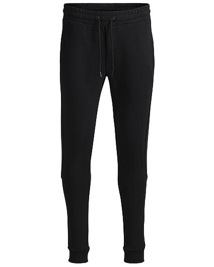 9378a907dc90 Jack   Jones Men s Core Slub Sweat Pants Fleece Joggers Black ...