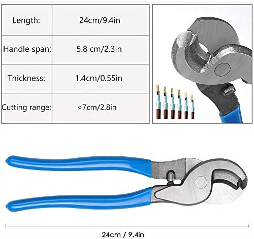 ZHHAOXINPA Convenience Crimping Pliers Set, Professional Crimping Tool Cable Lugs Crimping Pliers Cable Lug 6-50 mm² with Cable Cutter Cut Wire Cable Lightweight