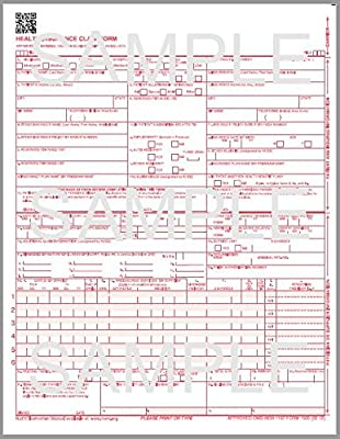 CMS 1500 claim form 2500 sheets