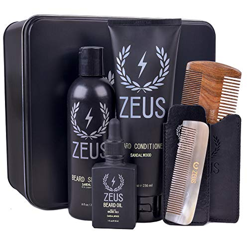 Executive Kit - Zeus Executive Beard Care Kit - Grooming Tools and Beard Care Set for Men! (Scent: Sandalwood)