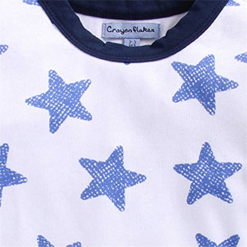 CrayonFlakes Blue Off White Check Half Sleeves Shirt by CrayonFlakes (Image #2)