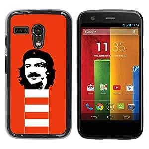LECELL -- Funda protectora / Cubierta / Piel For Motorola Moto G 1 1ST Gen I X1032 -- Funny Rebel Face --