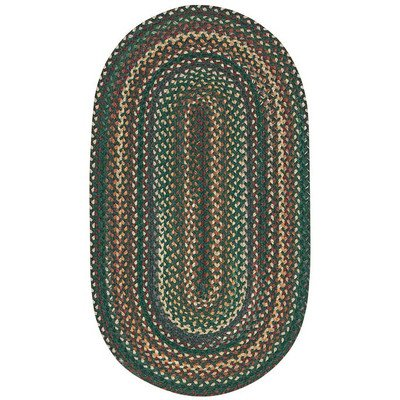 Concentric Rectangle Braided Rugs (Sherwood Forest Dark Geen Rug Rug Size: Concentric 7' x 9')