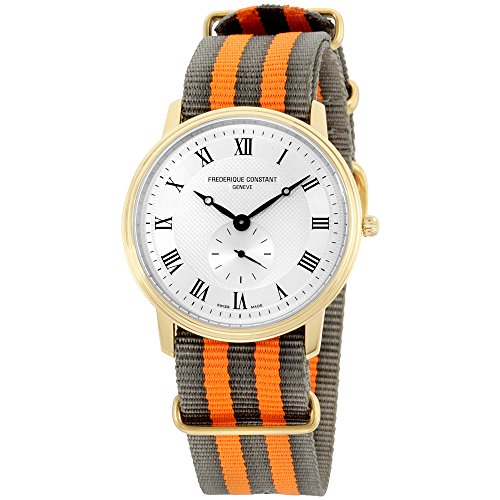 Frederique Constant Slimline Silver Dial Nylon Strap Men's Watch FC235M4S5GRYORG