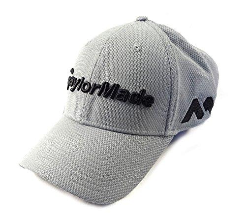 TaylorMade Golf 2017 tour new era 39thirty white hat grey l/xl