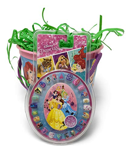 Disney Princess Easter Basket Pre Filled with Easter Candy, Easter Toys, Easter Basket Filler, and Easter Basket Grass | Great for Kids, Boys and Girls by Red Oak Collections (Image #2)
