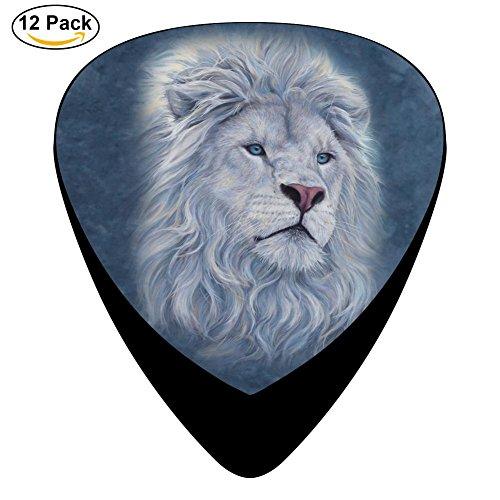 Hidui Guitar Picks Custom White Lion Classic Guitar Celluloid Plectrums Bass, 12 Pack ()