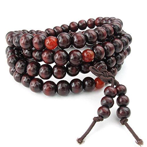KONOV Bracelet Buddhist Sandalwood Necklace