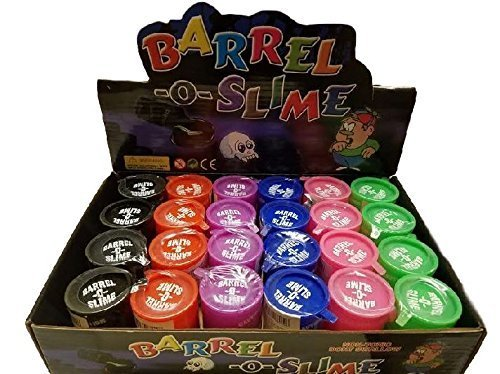 Barrel-O-Slime - 48 Pieces in Display Box - Assorted Colors of Barrel Slime]()