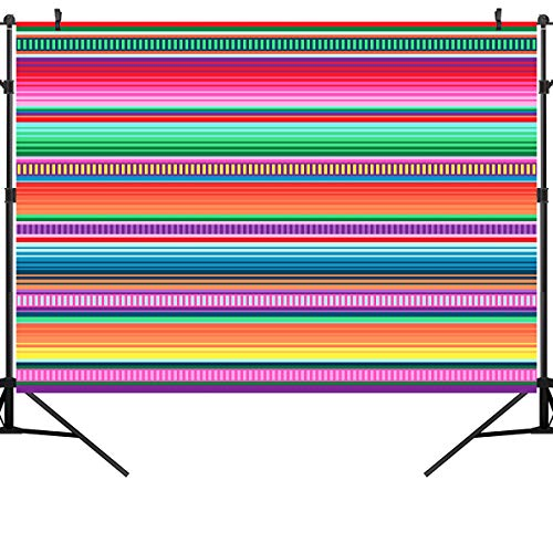 - OUYIDA 7X5FT Blanket Stripes Party Decor Or Ethnic Fabric Pattern with Colorful Stripes CP Pictorial Cloth Photography Background Computer-Printed Vinyl Backdrop PCK10