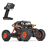 Image of MiGoo 2.4Ghz RC Car Rock Crawler 1:18 Scale 4WD Monster Truck Off-Road Vehicle Toy (Orange)