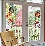 Christmas Windows Stickers Santa Claus Reindeer Removable Vinyl Christmas Tree DIY Wall Window Door Mural Decal Sticker for Showcase