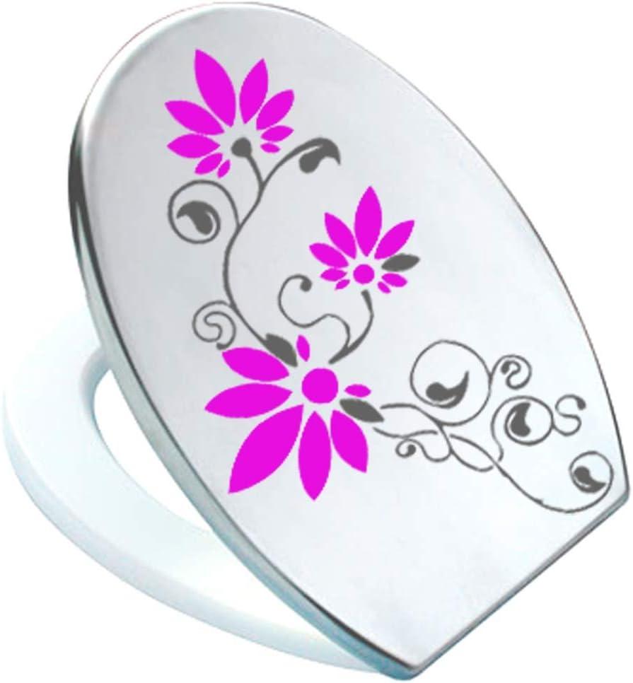 PEGATINA para tapa de inodoro St02 para pressalit de colour gris oscuro//rosa de vinilo