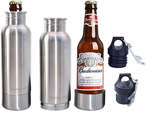 parateck acero inoxidable soporte para botella de cerveza Beer Cooler para martillo de altura Skinny botella, pack de 2: Amazon.es: Hogar