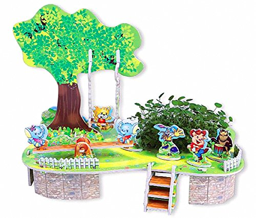(Anmada M-006 3D Preschool Learning Number Jigsaw Puzzle for Kids Age 3-12 Years Children Decorative DIY and Planting Flower Starter Kit 4 SHEET/33 Pieces, 7.14.75.7