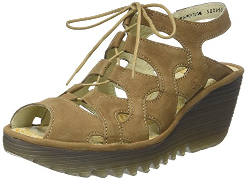 Fly London Yexa916fly, Sandali a Punta Aperta Donna Marrone (Sand)