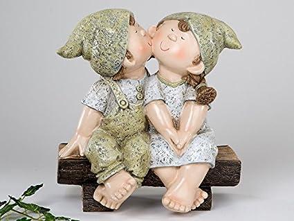 Formano Pilz und Blume 23 cm hoch im 2er Set Paul und Jule Sommerkinder Gartenfiguren mit Regenschirm