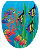 Toilet Tattoos TT-1800-O Under the Sea Design, Elongated