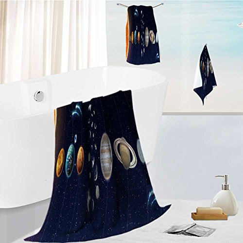 large luxury bath towel set The Solar System Elements of This Image Furnished For Home Spa Pool Gym Use 13.8''x13.8''-11.8''x27.6''-27.6''x55.2'' by AuraiseHome