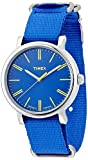 Timex Quartz Brass and Nylon Watch, Color:Blue (Model: T2P362)
