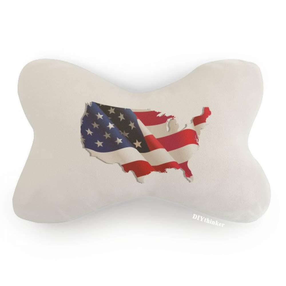 DIYthinker Stars and Stripes America Flag Map Car Neck Pillow Headrest Support Cushion Pad by DIYthinker