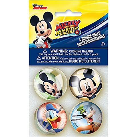 Disney Mickey Roadster Bounce Balls, 4ct - Disney Ball