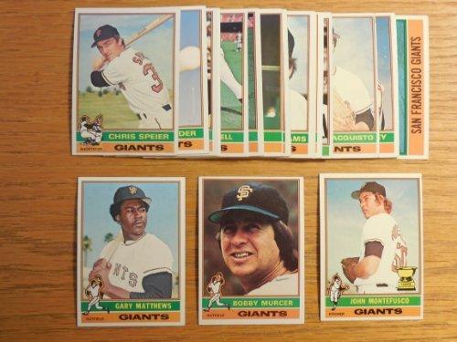 San Francisco Giants 1976 Topps Baseball Master Team Set w/ year end Traded Cards (26 Cards)**Just a Beautiful Set** (John Montefusco Rookie Card) (Bobby Murcer) (Chris Speier) (Willie Montenez) (Gary Matthews) (Gary Lavelle) (Ken Reitz) (Jim Barr) and More
