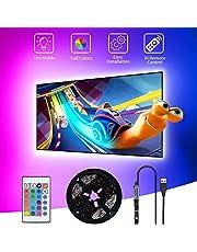 SHOPLED TV LED Backlight, 9.8ft USB Powered RGB Strip Lights Kit for 40-60 inch TVs, Monitor Backlight Lighting Kit for HDTV Desktop PC