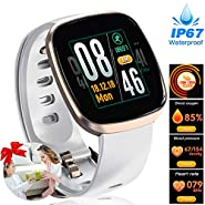 Women Fitness Tracker - Full Touch Screen Smart Sport Business Watches, Heart Rate Blood Pressure Blood Oxygen Sleep Monitor Watch, GPS Pedometer Activity Tracker Watch for Mothers Day Gifts