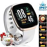 Women Pedometer Smart Watch – Full Touch Screen Waterproof Fitness Tracker | Heart Rate Blood Pressure Oxygen Sleep Monitor Watch | GPS Sport Business Activity Tracker | Autumn School Fashion Gifts
