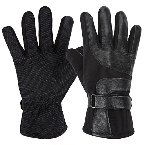 Gladys Moses Winter Tactical Gloves Touch Screen Outdoor Gloves for Men Fit for Cycling Motorcycle Airsoft Paintball Hiking Camping Powersports (black)
