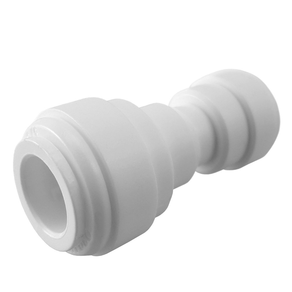 10, 1//4 to 3//8 PureSec 2019 Push to Connect 1//4-inch 3//8-inch Plastic Straight Union Quick Fittings for RODI System