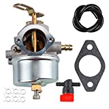 Dxent Carburetor Fuel Line Shut Off Valve Parts Kit fit Tecumseh 632334 632334A HM70 HM80 HMSK80 HMSK90 Carb 7hp 8hp 9hp Ariens snowblower Snow King Craftsman MTD Sears Engine Snow Blower