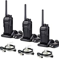 Retevis RT27 Walkie Talkies License-free 2 Way Radios with Covert Air Acoustic Earpiece (3 Pack)