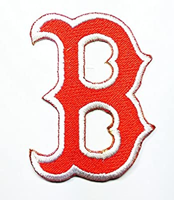 Boston Red Sox Patch Embroidered Iron on Hat Jacket Hoodie Backpack Ideal for Gift/ 4.5cm(w) X 6cm(h)