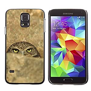 Cute Painting Slim pc Cover - Samsung Galaxy S5 ( Funny Evil Sinister Owl )