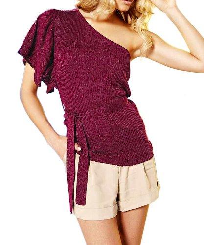 Apart Fashion–asimétrico eléctrico Jersey, color borgoña Rojo Burgundrot